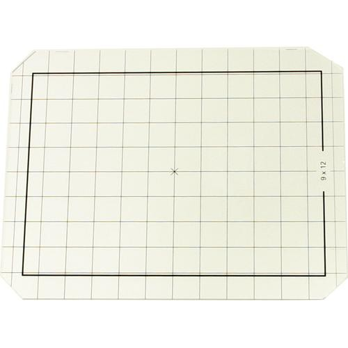 Linhof 4x5 Groundglass Focusing Screen with 9x12 Markings, cm Grid and Roll Film Scoring