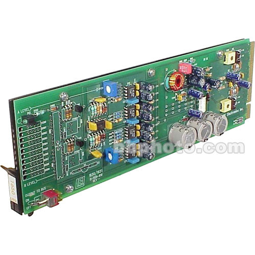 Link Electronics 16501021 1x8 Audio Distribution Amplifier - Mono 1x8, Stereo 1x4, Balanced, Rack Card, 3-Pin Plug In Connection