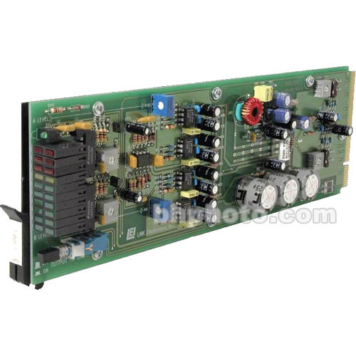 Link Electronics 16511021 1x8 Audio Distribution Amplifier - Mono 1x8, Stereo 1x4, Balanced, Rack Card, 3-Pin Plug-In Connection