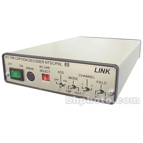 Link Electronics IEC-788CG Closed Caption Decoder - NTSC PAL, Composite (BNC), Y/C CC1, CC2, CC3, CC4, T1, T2, T3, T4 and Copy guard