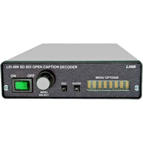 Link Electronics LEI-589 SDI Closed Caption Decoder