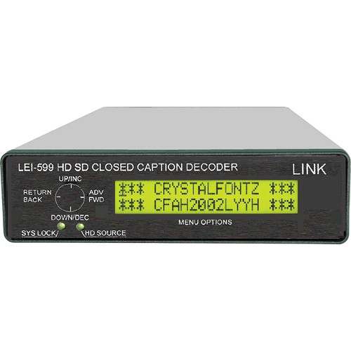 Link Electronics HD SD 608/708 Closed Caption Decoder