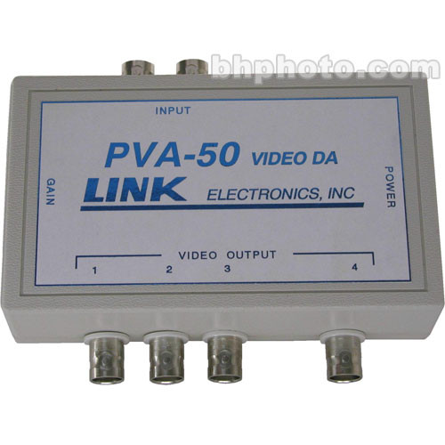 Link Electronics PVA-50 1x4 Composite Video Distribution Amplifier
