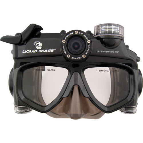 Liquid Image Scuba Series HD 720P 12 MP Camera Mask with Mid-Size Skirt