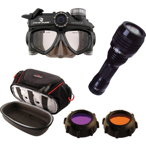 Liquid Image Wide Angle Scuba Series HD1080P Camera Mask with Accessory Kit