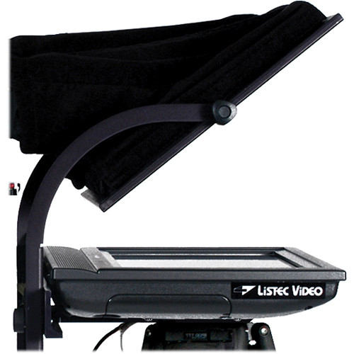 Listec Teleprompters SOLO LED Fold-Down Trapezoidal Hood Prompter (without tripod)