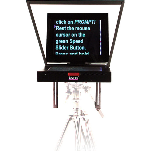 Listec Teleprompters MZLT-1017S Mini DV Prompter with Z-Pro Mounting Hardware