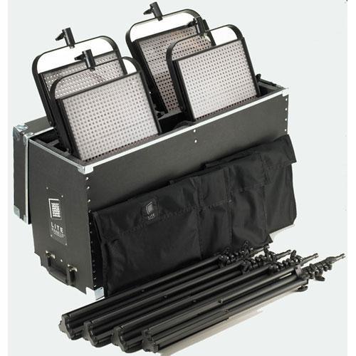 Litepanels 1x1 Bi-Color 4-Light Variable Color Temperature LED Flood Kit