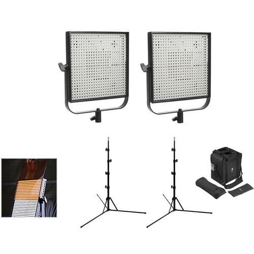 Litepanels 1x1 DL-Flood, DL-Spot Flypak 2-Light Kit (Multi-Voltage)