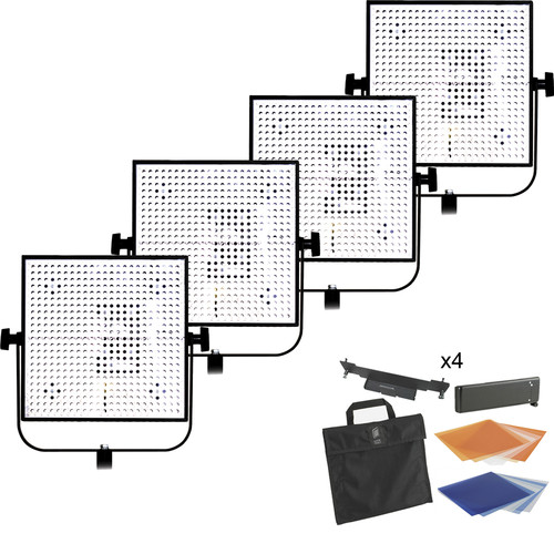 Litepanels 4 Light 1X1 Daylight/Tungsten LED Kit (1 Spot/3 Flood)