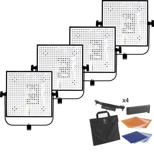 Litepanels 4 Light 1X1 Daylight/Tungsten LED Kit (1 Spot/3 Flood)