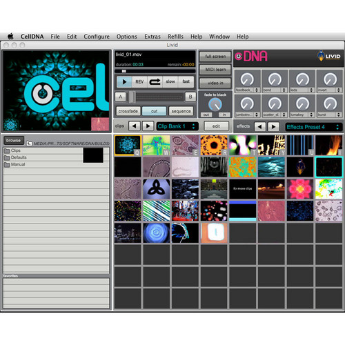 Livid Instruments CellDNA VJ Software