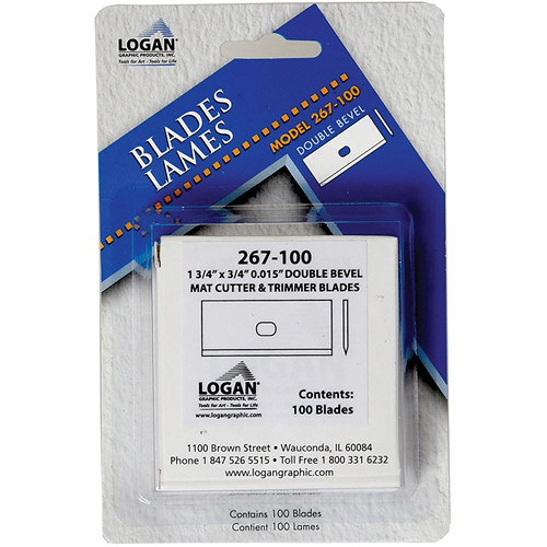 Logan Graphics Replacement Blades for the 850 and T300 Mat Cutters (100 Pack)