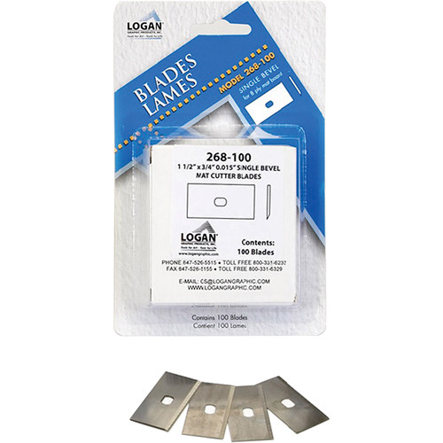 Logan Graphics #268 Blades for Professional Cutters - fits 650, 655 and 660 Framer's Edge Cutters