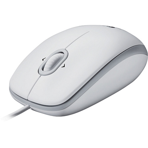 Logitech M110 Optical Mouse - White