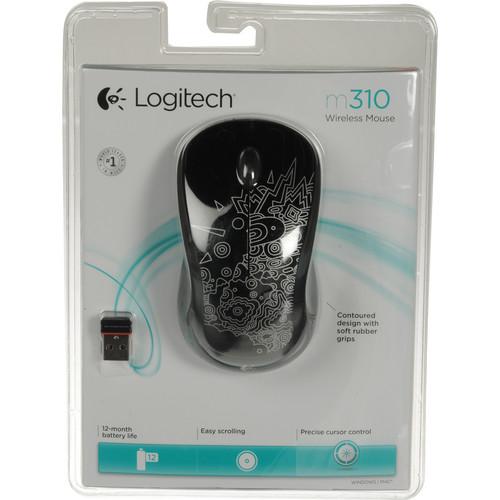 Logitech M310 Wireless Mouse (Black)