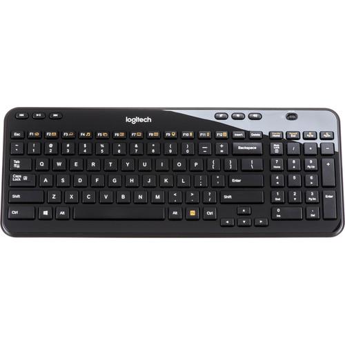 Logitech K360 Wireless Keyboard (Glossy Black)