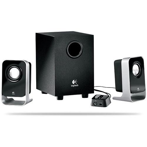 Logitech LS21 2.1 Stereo Speaker System (Black)
