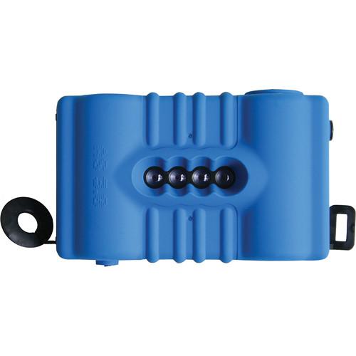 Lomography SuperSampler 4-Lens Panorama Camera Kit - Rubberized Blue