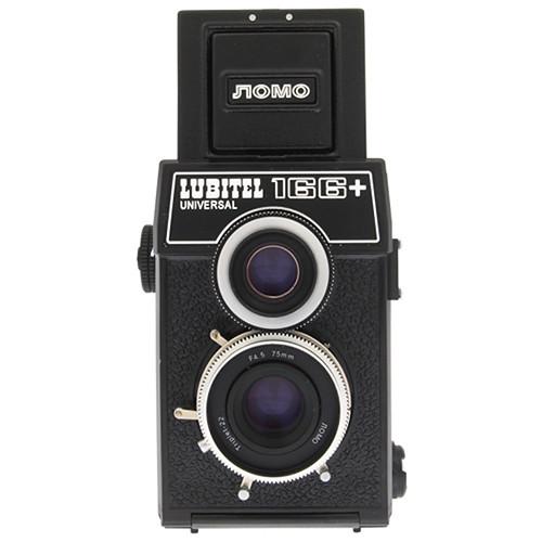 Lomography Lubitel 166+ 35mm/Medium Format Twin Lens Reflex (TLR) Camera with Built-in 75mm f/4.5 Lens