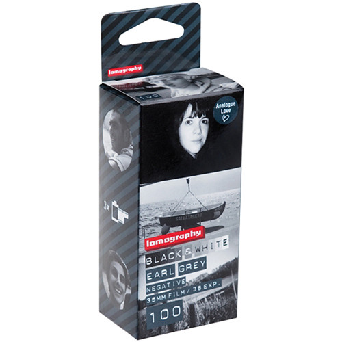 Lomography Earl Grey 100 Black and White Negative Film (35mm Roll Film, 36 Exposures, 3 Pack)