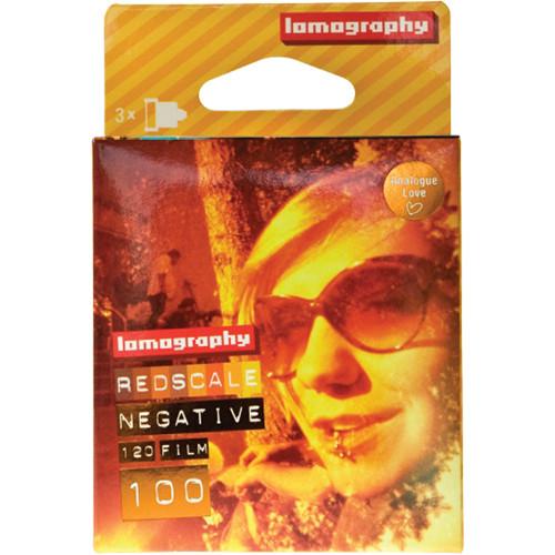 Lomography Redscale 100 Color Negative Film (120 Roll Film, 3 Pack)