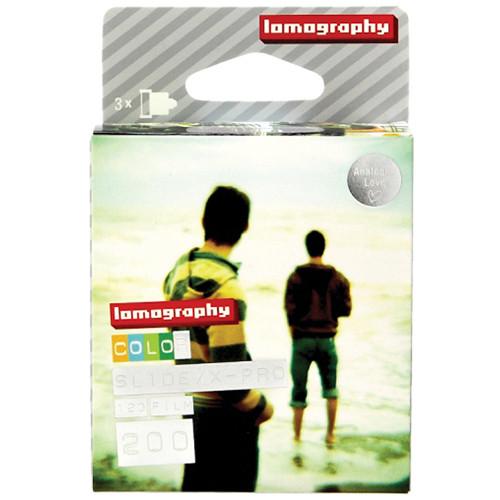 Lomography X-Pro Slide 200 Color Transparency Film (120 Roll Film, 3 Pack)
