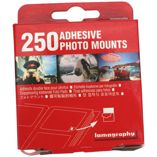Lomography Adhesive Square Mounts (250 Pack)
