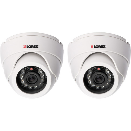 Lorex by FLIR Super Resolution Night Vision Indoor Dome Camera (2 Pack)