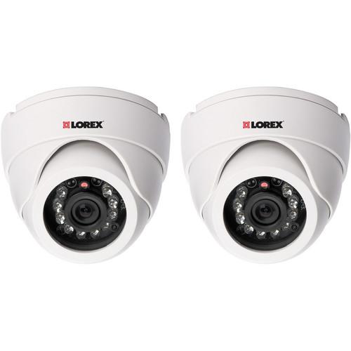 Lorex by FLIR Super Resolution Night Vision Indoor Dome Camera (2 Pack)