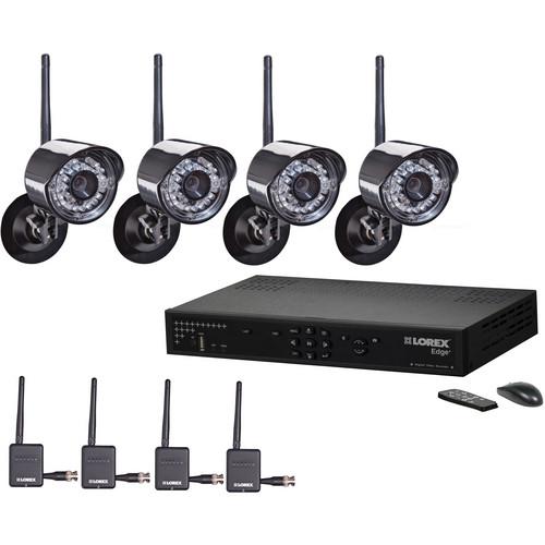 Lorex by FLIR 4 Channel Edge + Wireless Security Camera System