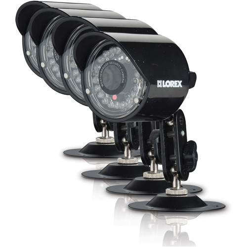 Lorex by FLIR CVC7662 4-Pack of Super+ Resolution 100' Night Vision Security Cameras