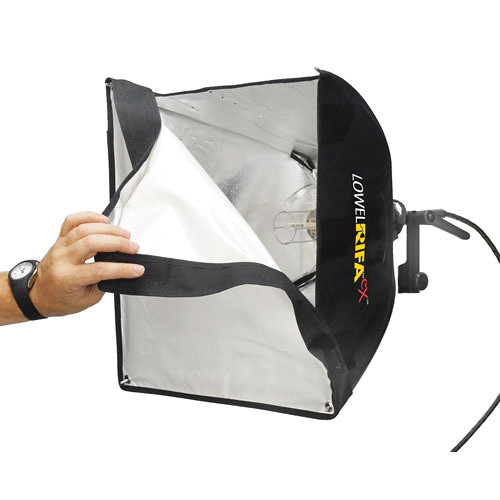 Lowel Rifa-Lite EX44 Softbox 250 Watt Light with Lamp (120-240VAC-12VDC)