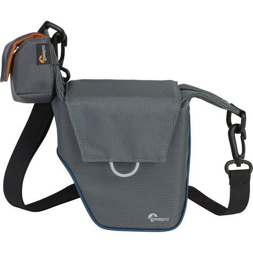 Lowepro Compact Courier 70 Shoulder Bag (Gray with Arctic Blue Piping)