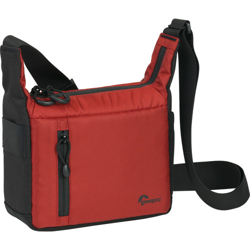 "Lowepro StreamLine 100 Shoulder Bag (8.1 x 3.5 x 8.7"", Red/Black)"