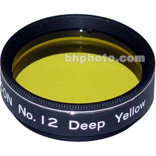 "Lumicon Yellow #12 1.25"" Glass Filter"