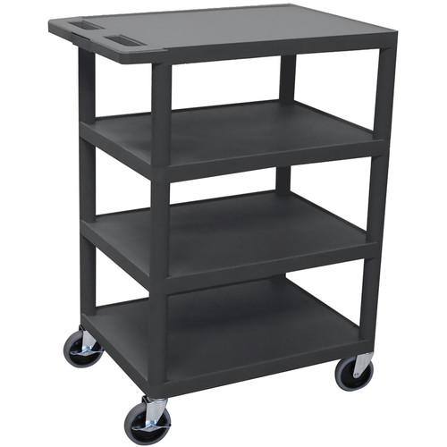 Luxor BC45-B 4-Shelf Banquet Cart (Black)