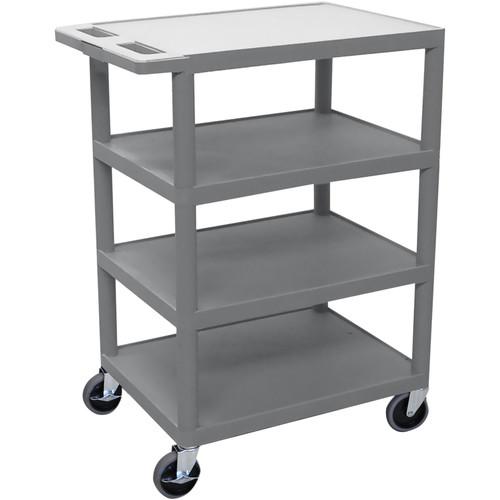 Luxor BC45G 4-Shelf Banquet Cart (Gray)