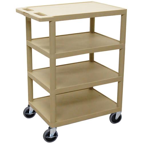 Luxor BC45P 4-Shelf Banquet Cart (Putty)