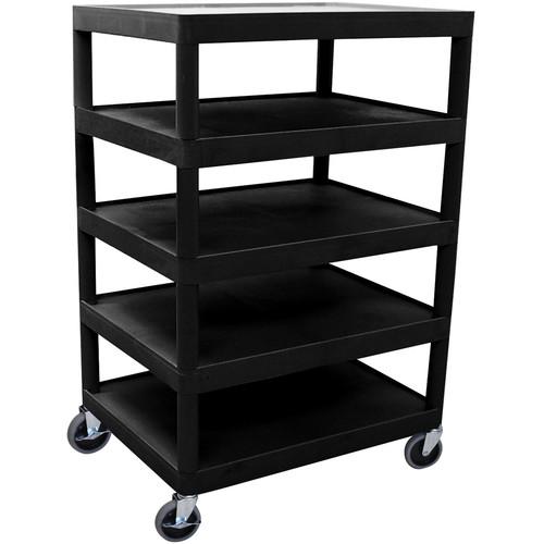 Luxor BC55B 5-Shelf Banquet Cart (Black)
