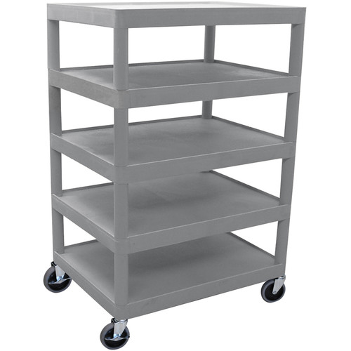 Luxor 5-Shelf Banquet Cart, Model BC55G (Gray)