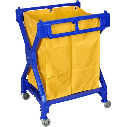 Luxor Folding Laundry Cart, Model HL13 (Blue with Orange Bag)