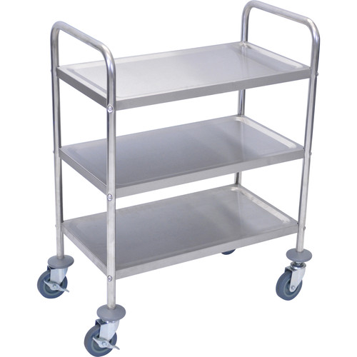 Luxor 3-Shelf Stainless Steel Cart