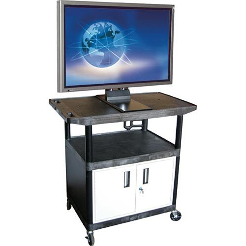 Luxor LE48CWTUD  3-Shelf Flat Panel Display Cart