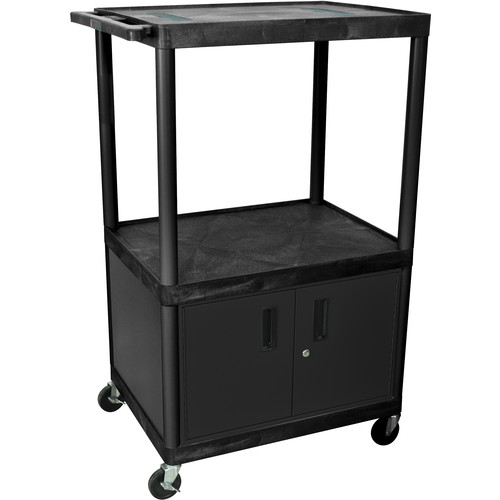 Luxor LULE54C Table with Cabinet (Black/Gray)