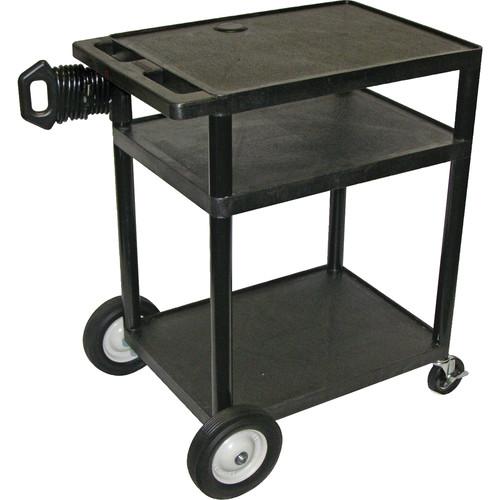 "Luxor 34"" Endura AV Table w/Big Wheels (Black)"