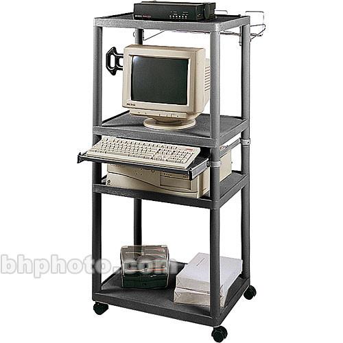 Luxor Endura Workstation w/Pull-Out Keyboard Shelf (Black)