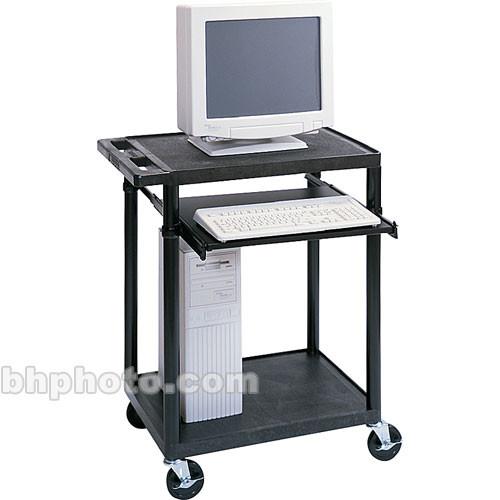 "Luxor 33"" Workstation w/Keyboard Shelf (Black)"
