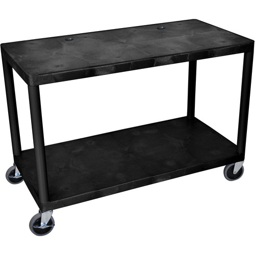 Luxor Endura 2-Shelf Extra Wide Workstation (Black)