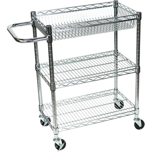 "Luxor 32"" (H) 3-Shelf Wire Tub Cart"